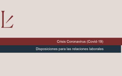 Disposiciones para las relaciones laborales